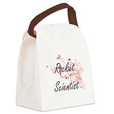 Rocket Scientist Artistic Job Des Canvas Lunch Bag