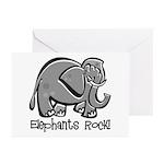 Elephants Rock! Greeting Cards (Pk of 10)