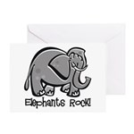 Elephants Rock! Greeting Card
