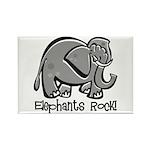 Elephants Rock! Rectangle Magnet (100 pack)