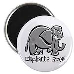 Elephants Rock! Magnet