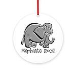 Elephants Rock! Ornament (Round)