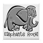 Elephants Rock! Tile Coaster