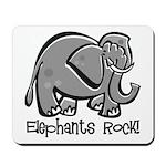 Elephants Rock! Mousepad