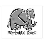 Elephants Rock! Small Poster