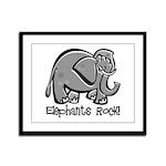 Elephants Rock! Framed Panel Print