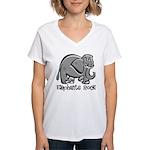 Elephants Rock! Women's V-Neck T-Shirt