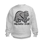 Elephants Rock! Kids Sweatshirt