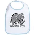 Elephants Rock! Bib