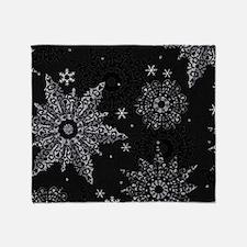 Cute Silver snow Throw Blanket
