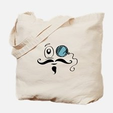 Funny Mustache and monocle Tote Bag