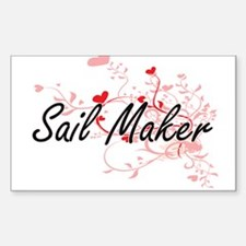 Sail Maker Artistic Job Design with Hearts Decal