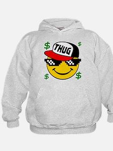 Smiley Thug Smilie Thug Emoticon Hoodie