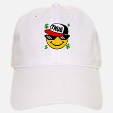 Smiley Thug Smilie Thug Emoticon Baseball Baseball Cap