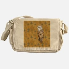 Barn Owl Retro Twirls Messenger Bag