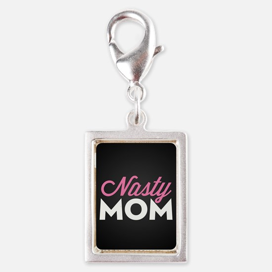 Nasty Mom Silver Portrait Charm
