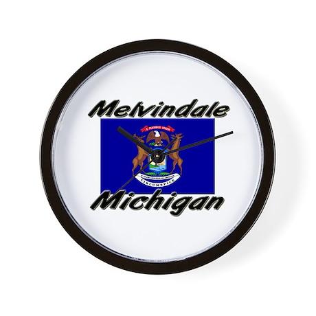 Melvindale Michigan Wall Clock
