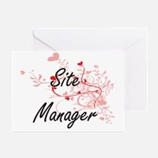 Cute Site manager Greeting Card