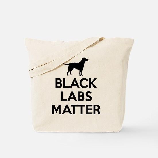 Black Labs Matter Tote Bag