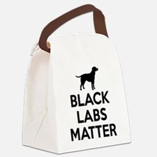 Black Labs Matter Canvas Lunch Bag
