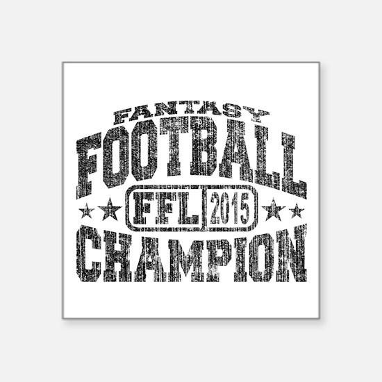 2015 Fantasy Football Champion Sticker