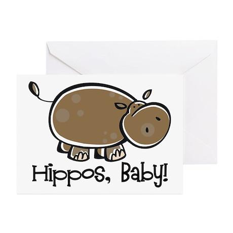 Hippos, Baby! Greeting Cards (Pk of 20)