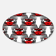 RED RACECAR Decal