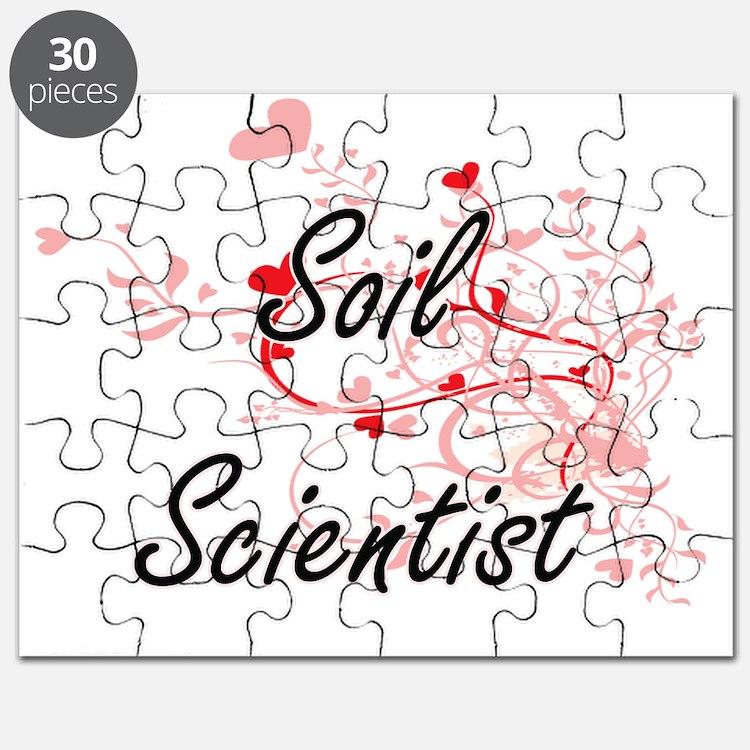 Soil Scientist Artistic Job Design with Hea Puzzle