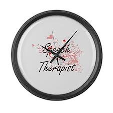 Speech Therapist Artistic Job Des Large Wall Clock