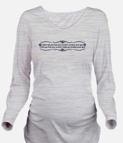 CN-CLM-paganquote.pn Long Sleeve Maternity T-Shirt