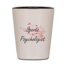 Sports Psychologist Artistic Job Design Shot Glass