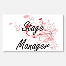 Stage Manager Artistic Job Design with Hea Decal
