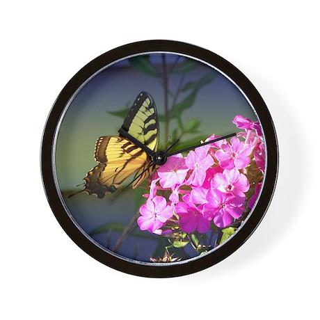 Blue Tiger Swallowtail Wall Clock