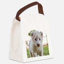 WHITE LION CUB Canvas Lunch Bag