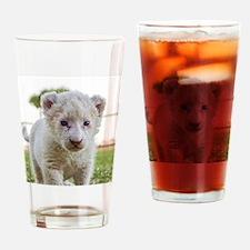 WHITE LION CUB Drinking Glass
