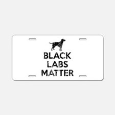 Vintage Black Labs Matter Aluminum License Plate