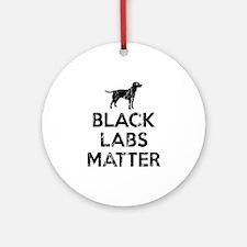 Vintage Black Labs Matter Round Ornament