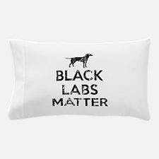 Vintage Black Labs Matter Pillow Case