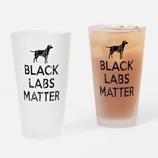 Vintage Black Labs Matter Drinking Glass