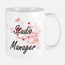Studio Manager Artistic Job Design with Heart Mugs