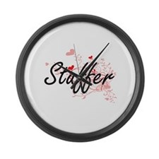 Stuffer Artistic Job Design with Large Wall Clock