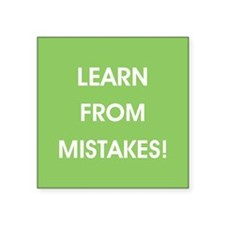 LEARN FROM MISTAKES! Sticker