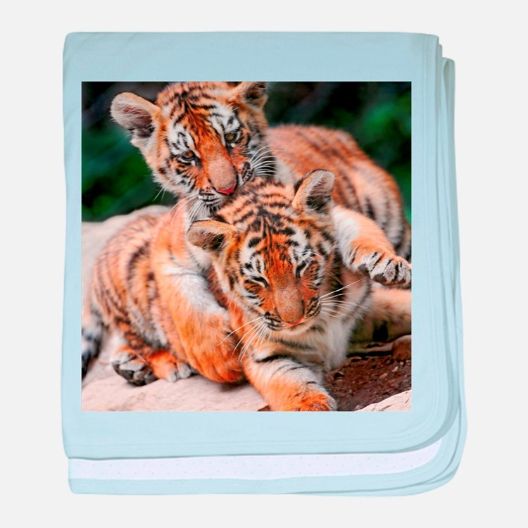 BABY TIGERS baby blanket