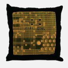 Unique Circuit board Throw Pillow