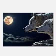 Cute Wolf and moon Postcards (Package of 8)