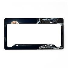 Halloween wolf License Plate Holder