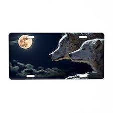 Unique Wolf Aluminum License Plate