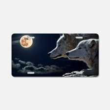 Cute Clouds Aluminum License Plate