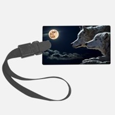 Funny Wolf Luggage Tag