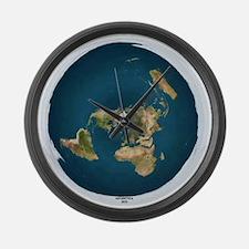 "Flat Earth Large Wall Clock-14.5"""